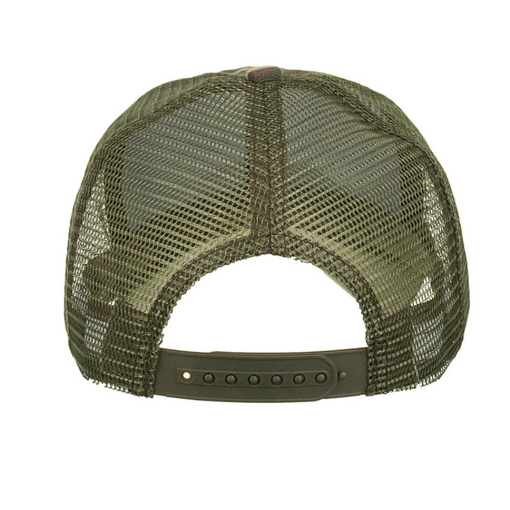 d68a6bec7 Amazon.com: Botrong Camouflage Summer Cap Mesh Hats for Men Women Casual  Hats Hip Hop Baseball Caps (Army Green): Cell Phones & Accessories