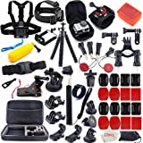 MOUNTDOG Action Camera Accessories Kit for GoPro Hero 7 6 5 4 3+ 3 Hero Session 5 Black Accessory Bundle Set for Yi AKASO Apeman SJ4000 DBPOWER WiMiUS Rollei QUMOX Campark Action Camera Accessory