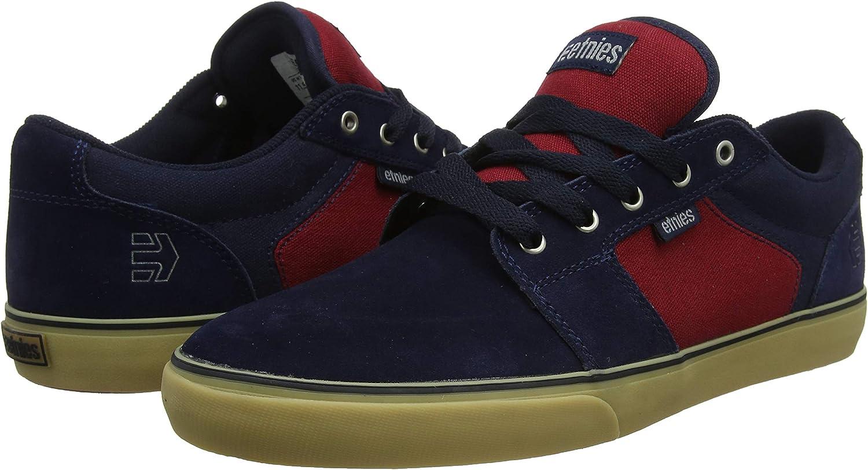 Schwarz Etnies Barge Ls Dark Grey//Grey//Red Zapatillas de Skateboard para Hombre