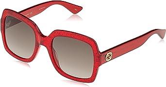 Gucci 0036S_005 (54 mm) gafas de sol, Rojo, 54 para Mujer