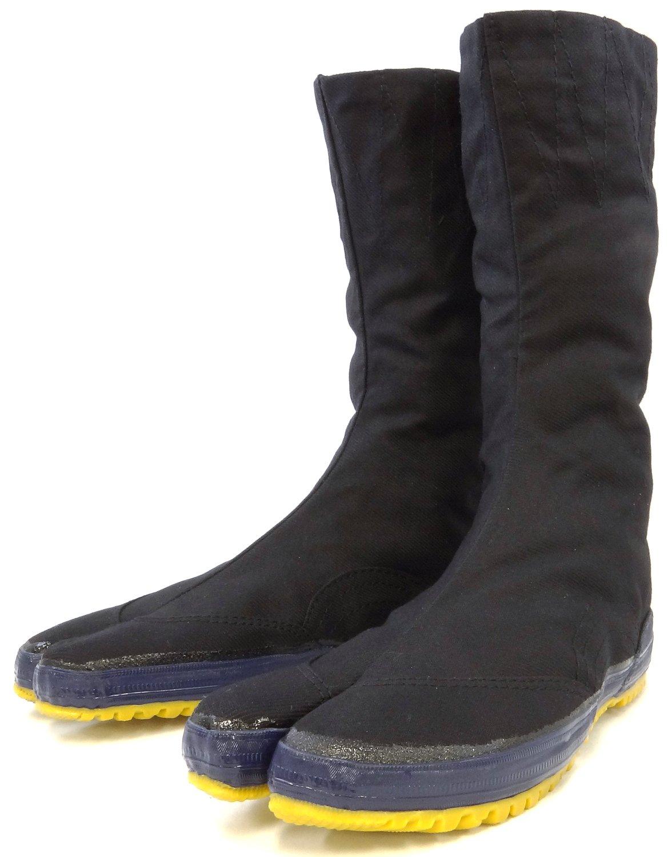 Rikio Tabi Shoes Black Hatashitabi (Outdoor Tabi) (JP 28cm approx. US Men size 10)