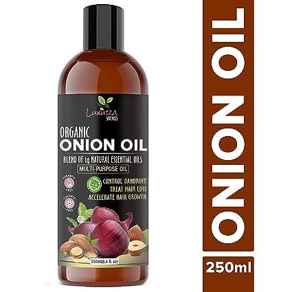 Luxura Sciences - Aceite de cebolla para cabello, 250 ml, con 14 aceites esenciales