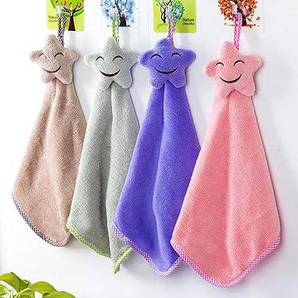 BENHAI - 1 toalla de mano de felpa suave para colgar en el hogar, toalla