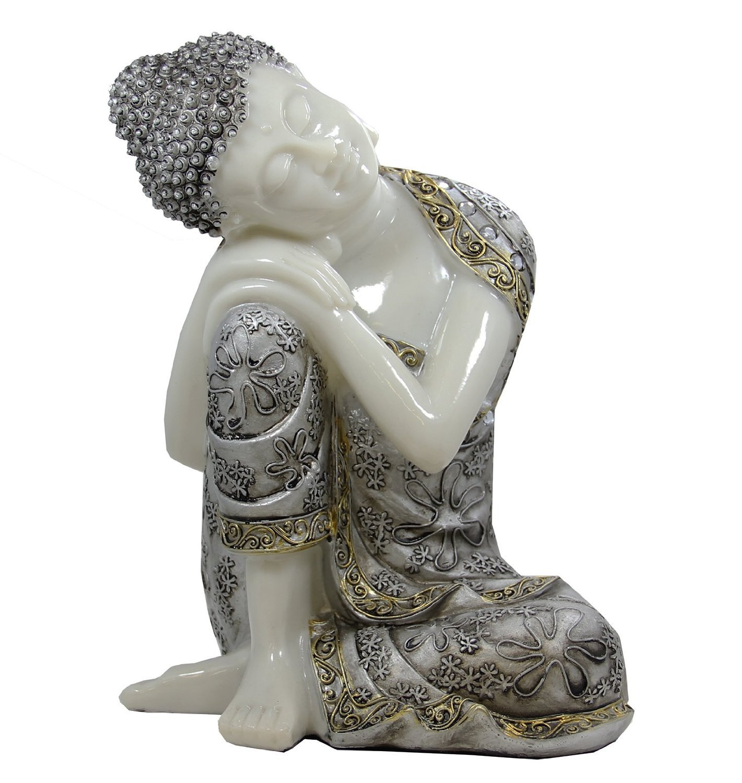 DharmaObjects Napping Buddha Thai Ivory Good Luck Asian Art Decor Statue