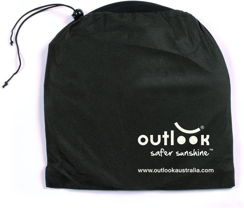 Blocks 99/% UVA /& UVB Rays New for 2015 Outlook Solar Shade Black with Zip