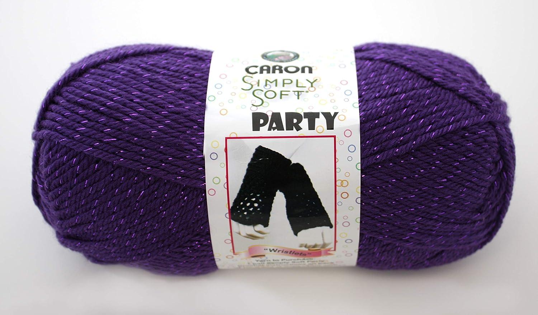 Amazon Com Caron Simply Soft Party Yarn Purple Sparkle