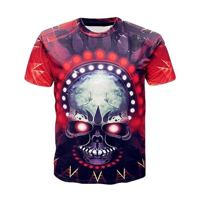 Camisetas Hombre Calaveras LhwyCon Casuales De Estampado D2IWH9E