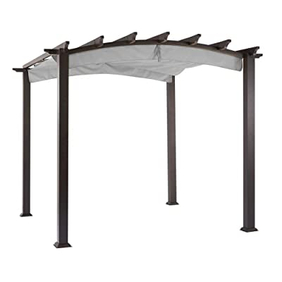 Garden Winds Replacement Canopy for The Hampton Bay Arched Pergola - Riplock 350 - Slate Gray : Garden & Outdoor