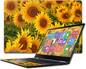 """Mightyskins Skin Compatible with Lenovo Yoga 710 15.6"""" Wrap Cover Sticker Skins Sunflowers"""