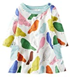 Amazon Price History for:Fiream Girls Cotton Casual Longsleeve Cartoon Dresses