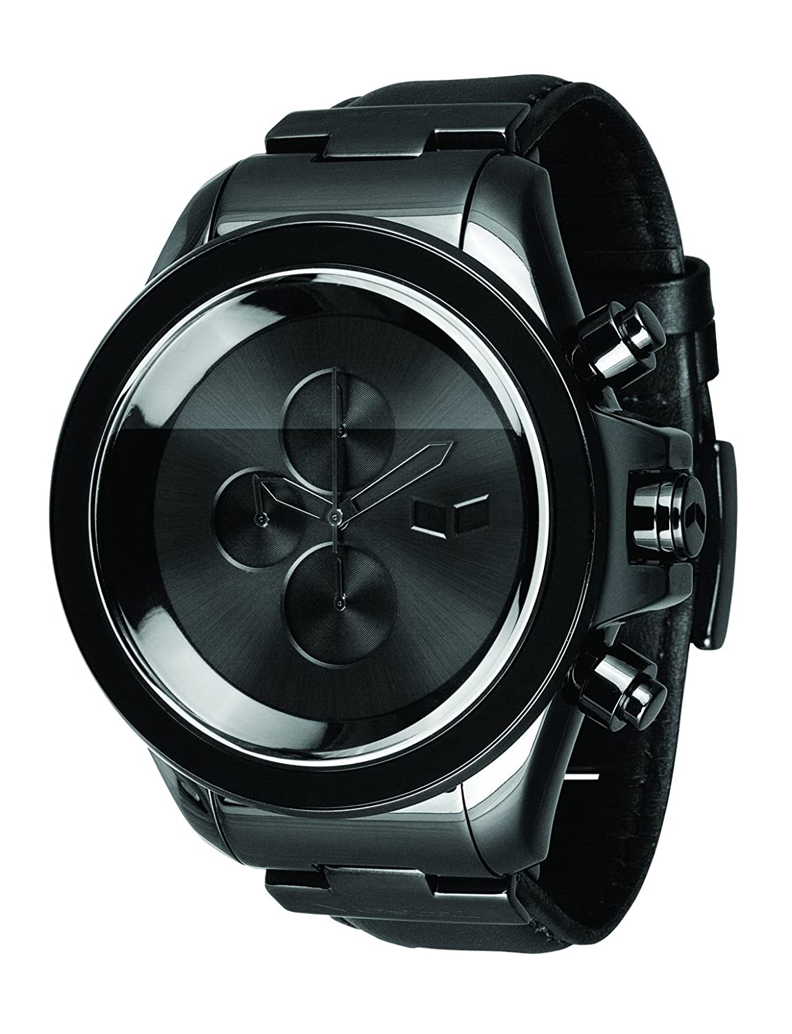 Amazon.com: Vestal Mens ZR3L002 ZR-3 Black Minimalist Chronograph Black Leather Watch: Watches