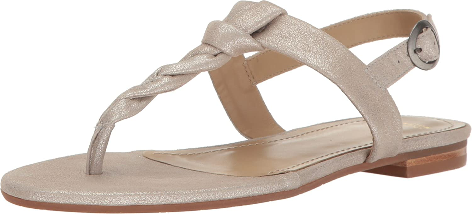 Johnston & Murphy Women's Holly Dress Sandal B01MRPUE9E 7 B(M) US|Silver Metallic Suede