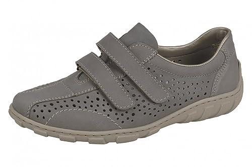 Rieker Ladies Velcro Shoes L3175 43 Gray, Damen Größen:40;Farben:grau:  Amazon.co.uk: Shoes U0026 Bags