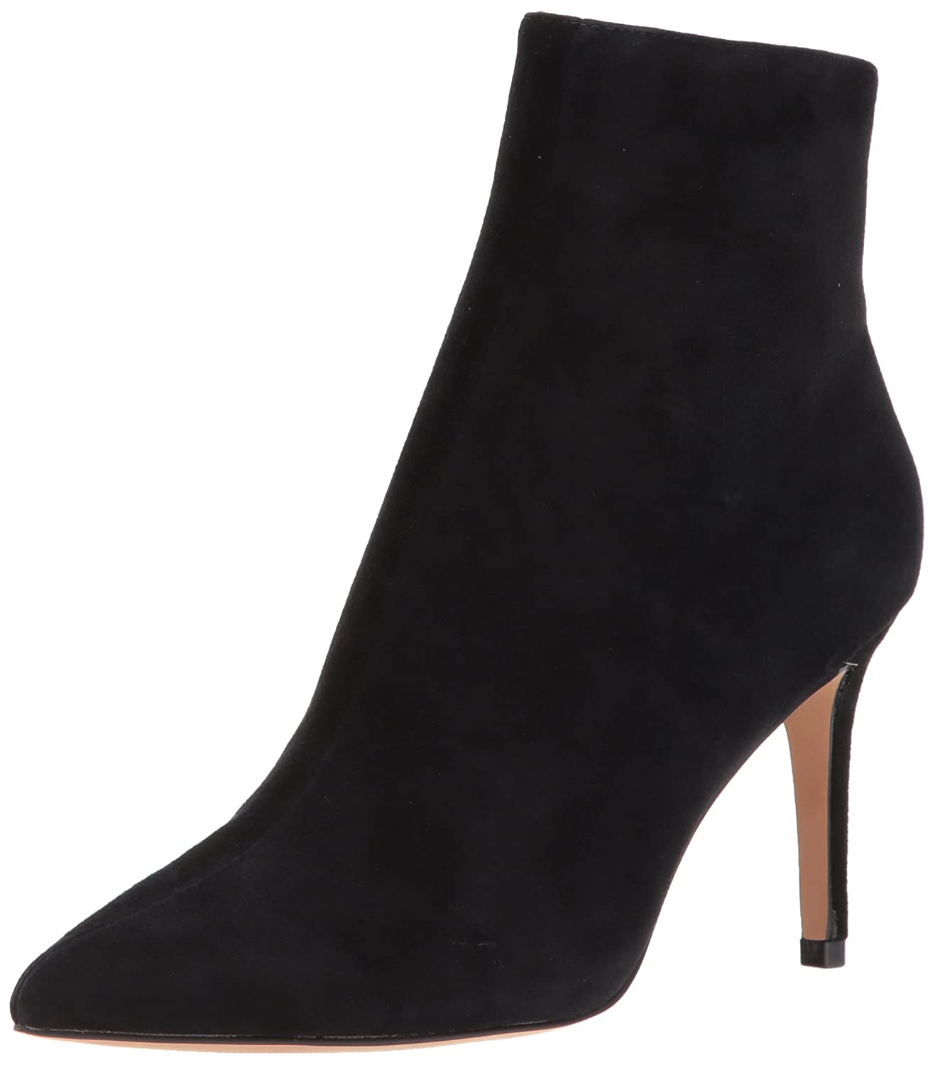 STEVEN by Steve Madden Women's Logic Ankle Boot B073SFWX9B 8 B(M) US|Black Suede