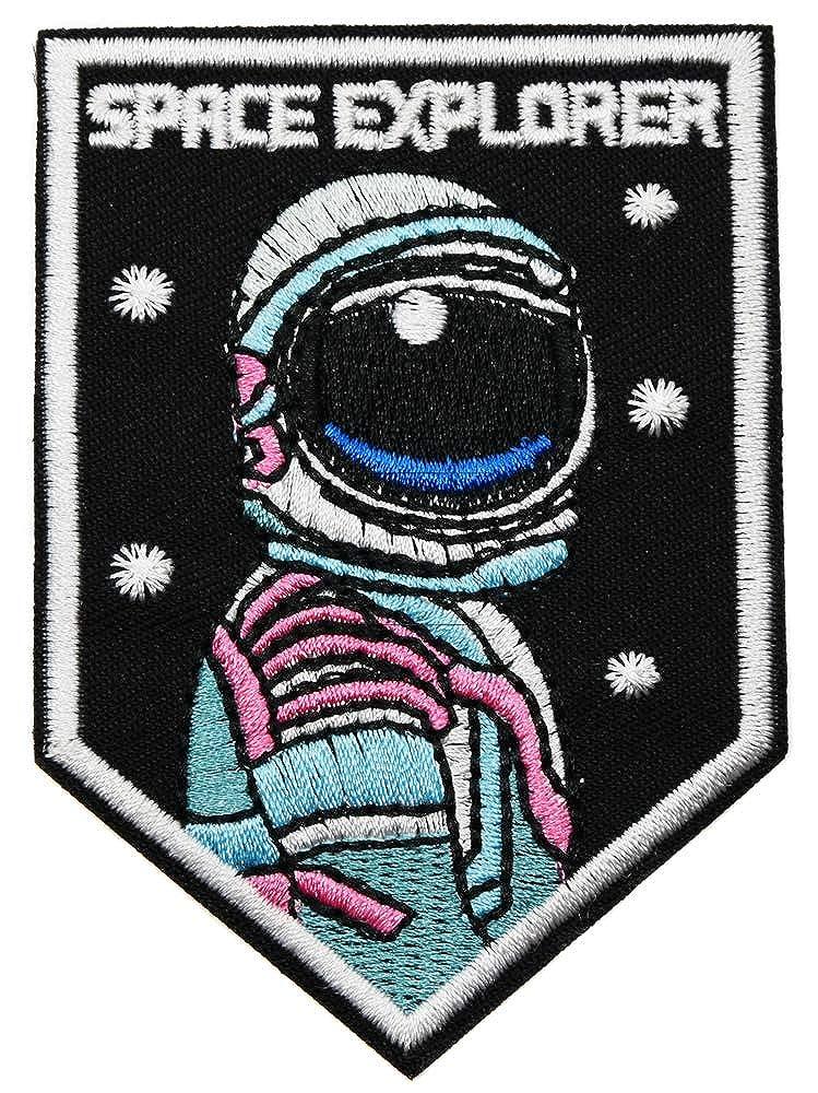 topt rasta ecusson Astronaute Casque Etoile Space exlorateur planete Espace 8x7cm