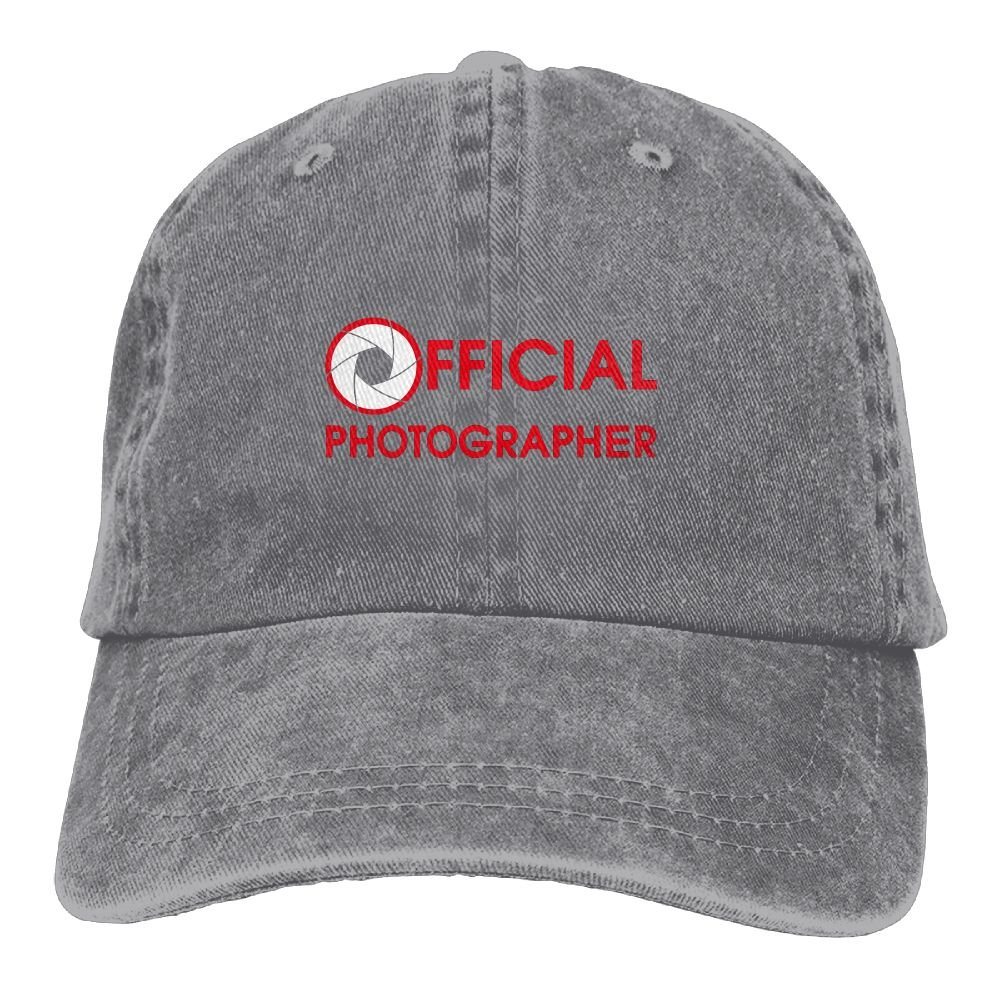 Official Photographer Plain Adjustable Cowboy Cap Denim Hat for Women and Men
