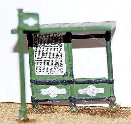 Langley Models moderno cobertizo + autobus escala OO sin pintar modelo Kit F22