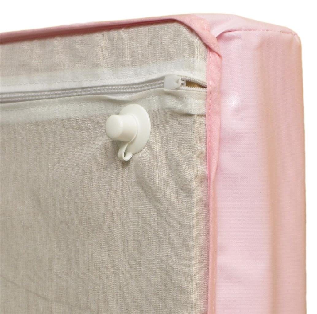 Hearts Pink Cot Top Changer 70 x 50 cm Hard Base Baby Cot Changing Mat//Unit