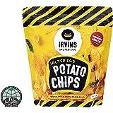 IRVINS Dangerously Addictive Salted Egg Chips Crisps Snacks (Salted Egg Potato, 105g -3 Bag)