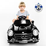 Giantex Car for Kids Mercedes Benz R/C 300SL, Ride-On Vehicles with MP3 Music Function, Baby AMG Electric Battery Charge, Child Drive Toys Kids Cars w/ Remote Control (Black)
