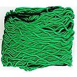 Hillfield® Anhängernetz grün , 1,25 x 2,10 m , dehnbar auf 200 x 300 cm , Containernetz , Sicherungsnetz , Ladungssicherungsnetz