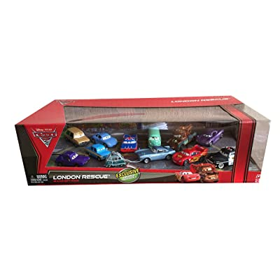 Disney Cars 2 London Rescue with Captured Professor Z - 12 Car Gift Pack: Toys & Games