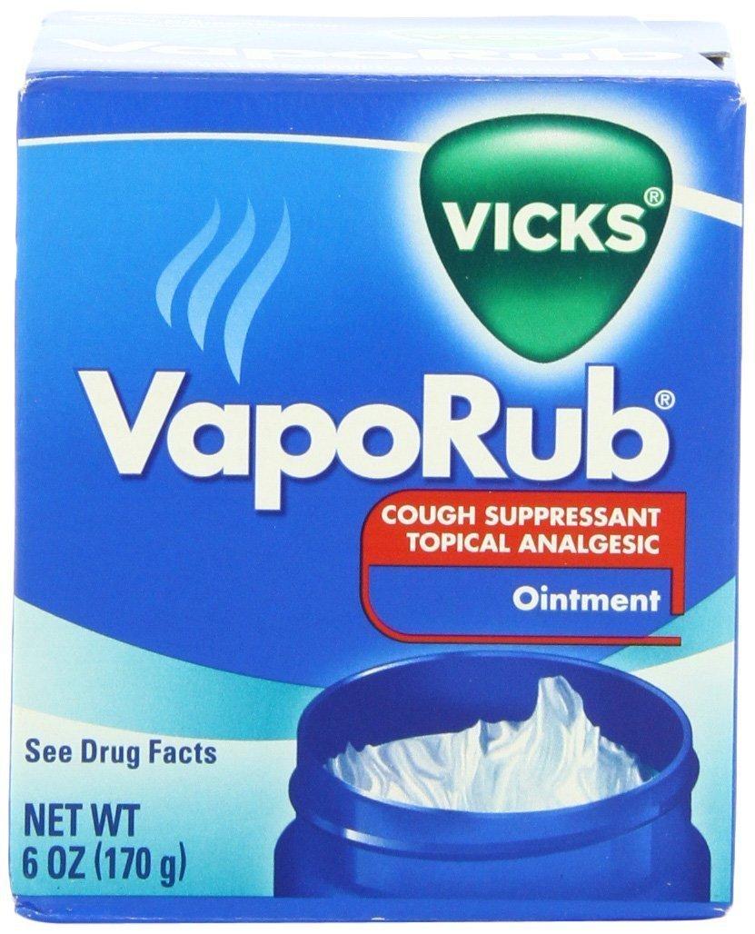 Vicks Vaporub Jar - Menthol - 6 oz (Pack of 2)