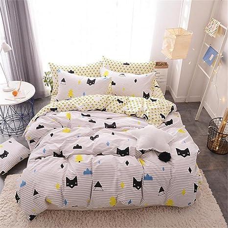 Auvoau Kids ropa de cama teen juego de ropa de cama juego de cama de funda nórdica ...