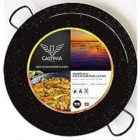 Castevia 13.5-Inch Enameled Steel Paella Pan, 34cm / 6 servings