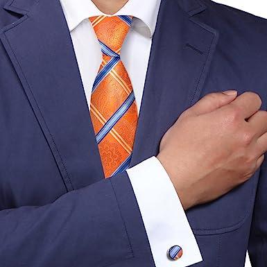 Y&G YAB1F03 multicolores Damas Compra padrinos de boda para hombre corbata de seda Set 2PT