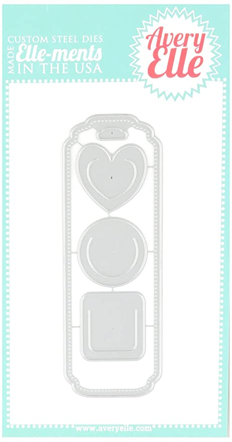 amazon com avery elle d0403 elle ments bookmark dies