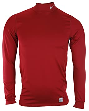 e49aec1f Image Unavailable. Image not available for. Colour: Nike Mens Pro FIT-Dry Long  Sleeve Mock Neck Shirt ...