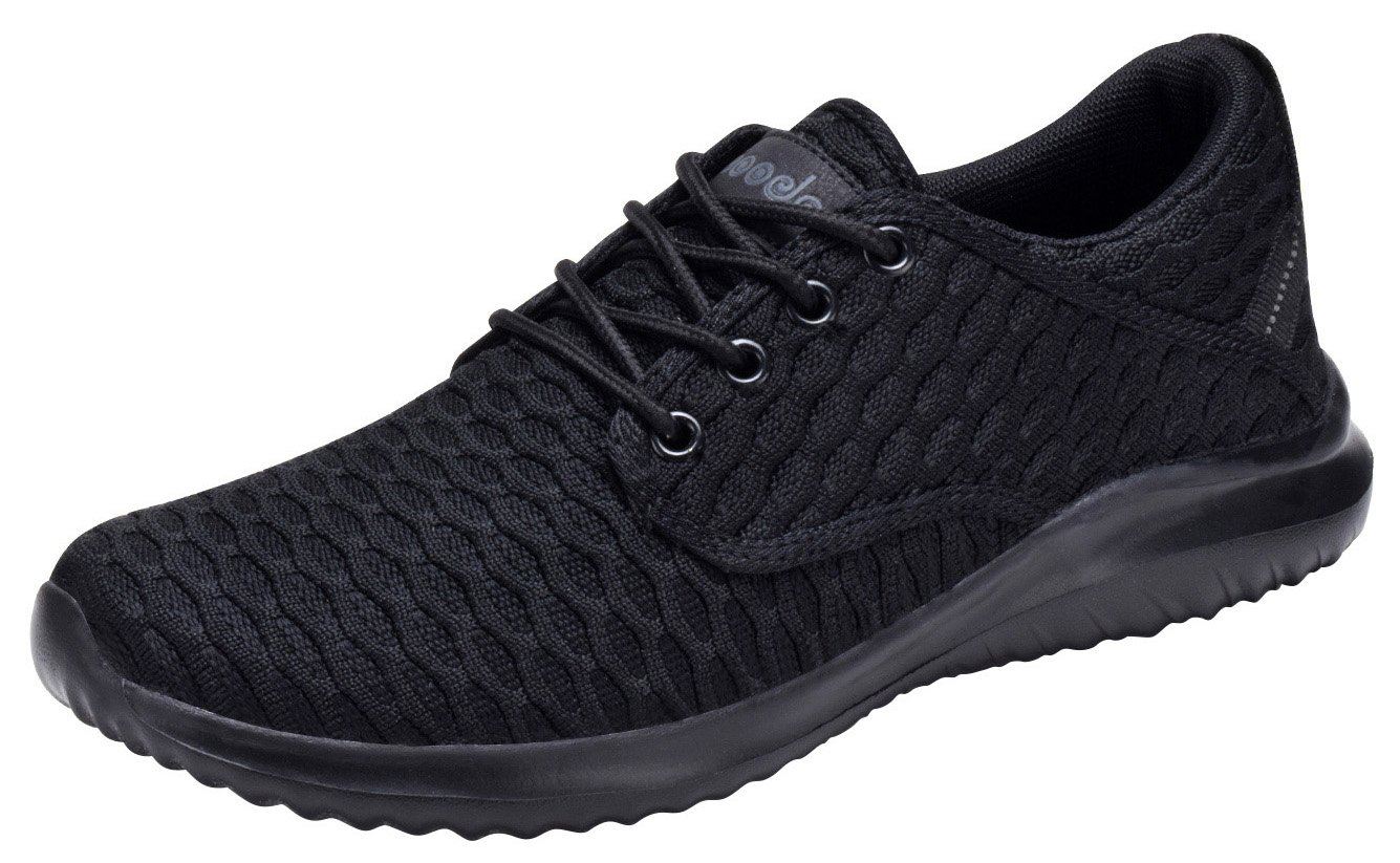 COODO CD7003 Women's Athletic Shoes Casual Breathable Sneakers All Black-7
