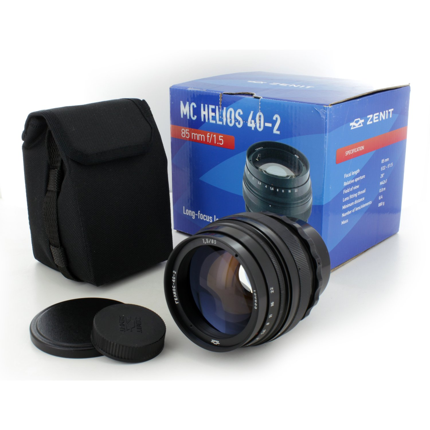 Russian Soviet Helios-40-2 85mm f/1.5 Best portrait manual lens for Canon EOS SLR/DSLR Camera. NEW!