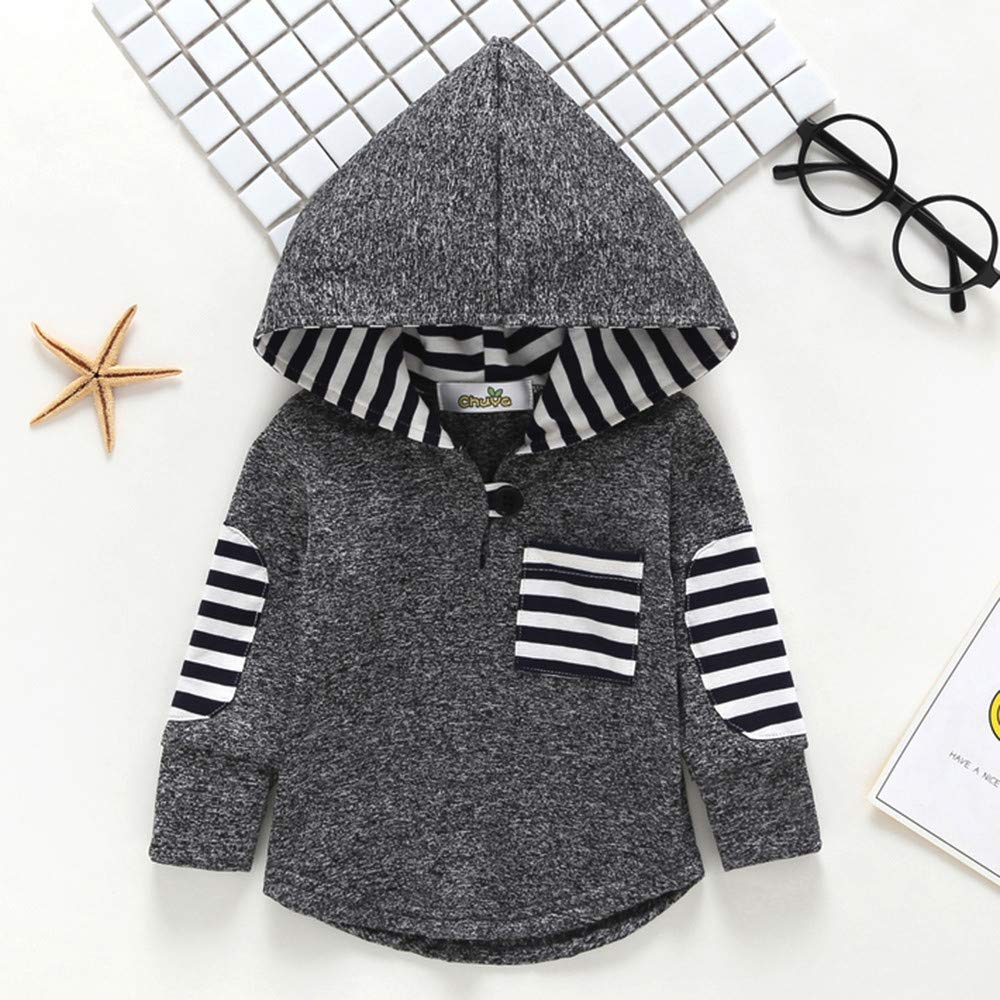 Toddler Infant Baby Floral Hoodie Pocket Sweatshirt Pullover Tops Warm Clothes