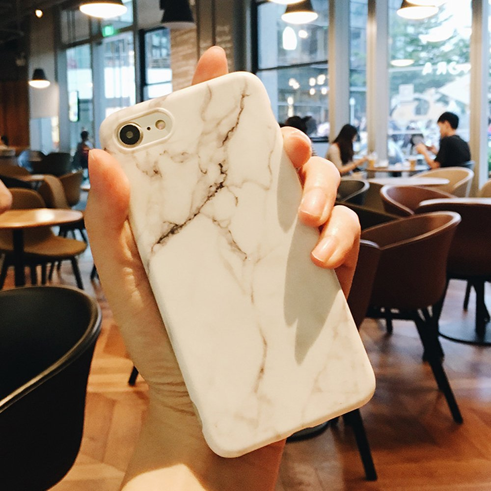 Jwest Unique Marble Design iPhone 6 6S Case Pink Geometric Anti-Scratch /&Fingerprint Shock Proof Thin Non Slip Matte Back Hard Protective Cover for iPhone 6 6S 4.7 inch
