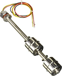 sourcingmap® Sensor de nivel de agua del depósito Interruptor de flotador vertical de 18cm de