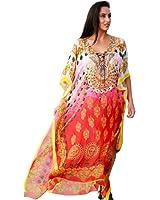 Kivaana Women's Plus Kaftan Dress Caftan Beach Boho Kaftan Dress Moroccan Kaftan