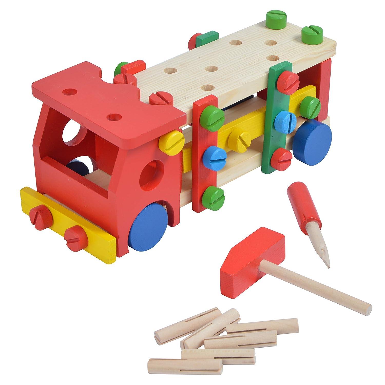 Pink Papaya Werkbank Stuhl mit Werkzeug, Motorik-Spielzeug, Jungen Mädchen ab 3 Jungen Mädchen ab 3 3S GmbH & Co KG.