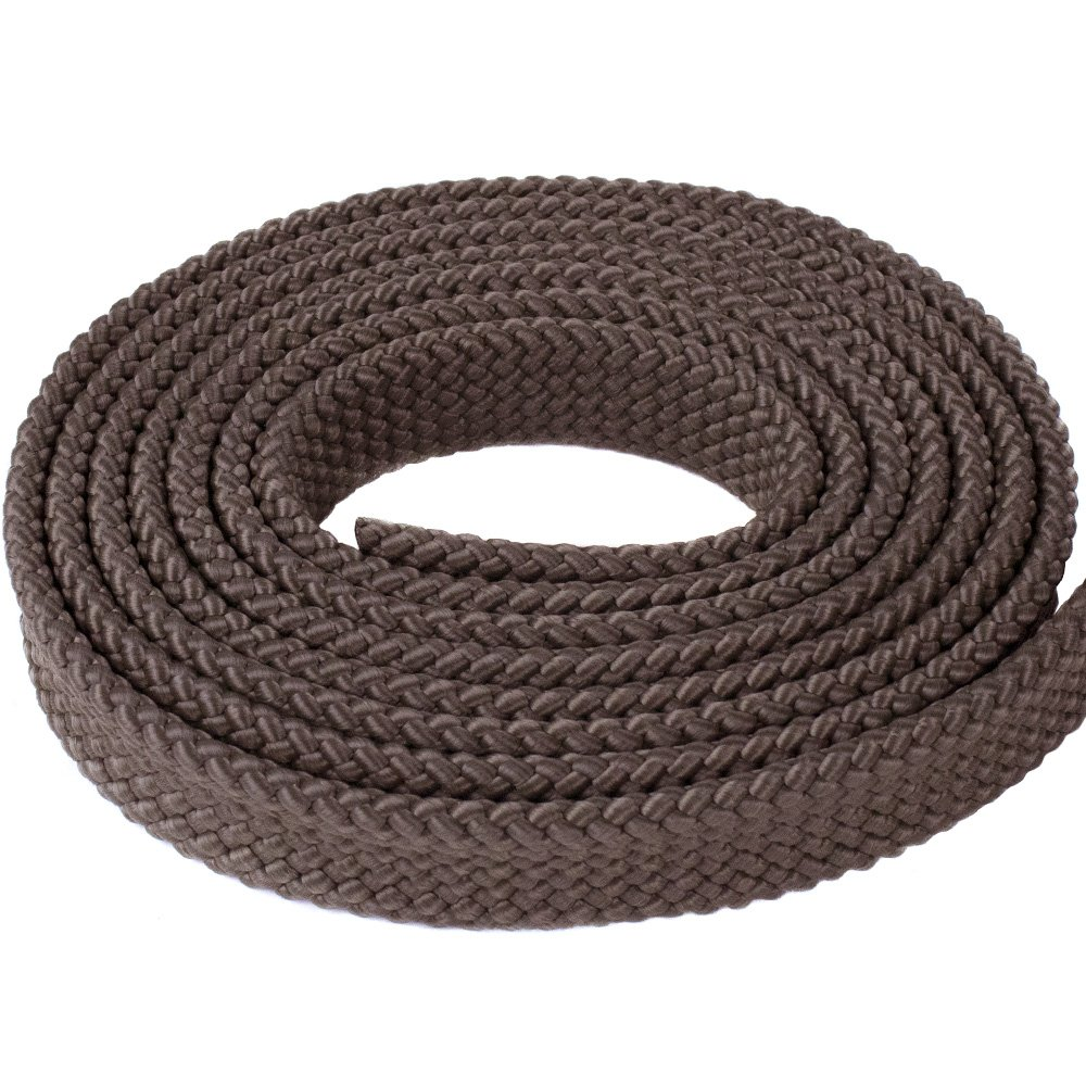 PolyPro Hollow Flat Braid Rope West Coast Paracord 1 MFP Soft Flat Braid Black White Hanks Olive Drab Brown Red Tan- Easy to Splice and Seal
