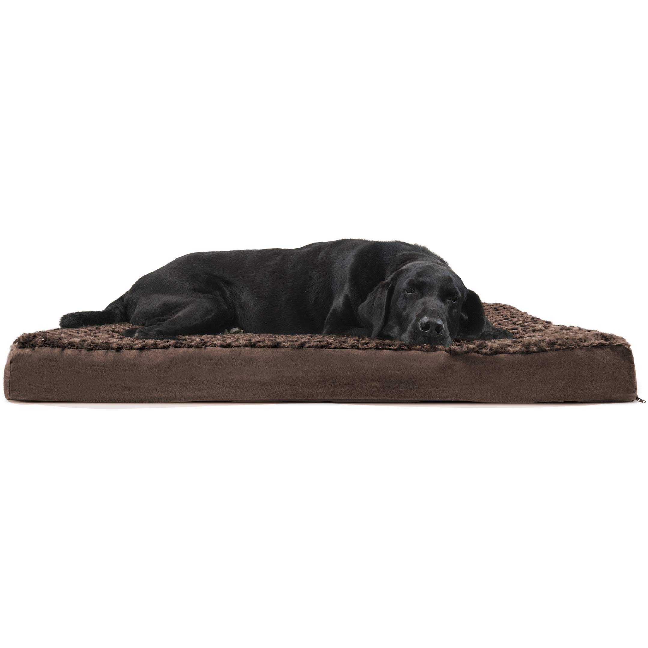 FurHaven Deluxe Orthopedic Pet Bed Mattress for Dogs and Cats, Chocolate, Jumbo