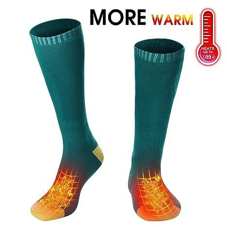 022bf41e405b Men Women Electric Heated Socks Thermal Insulated Sock Battery Powered Heat  Sox
