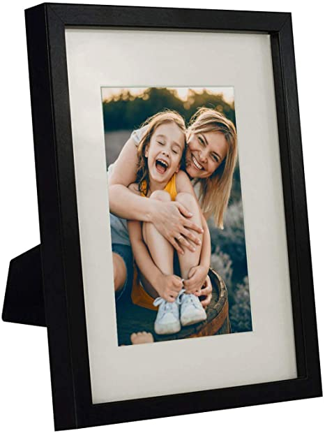 Family Photographs Black Mount Multi Aperture Picture Frames Fits 6 6 x 4 Inches Photos Mixed Landscape or Portrait Photo Framed