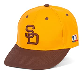 adult padres gold brown hat cap adjustable twill throwback san diego 1984 history