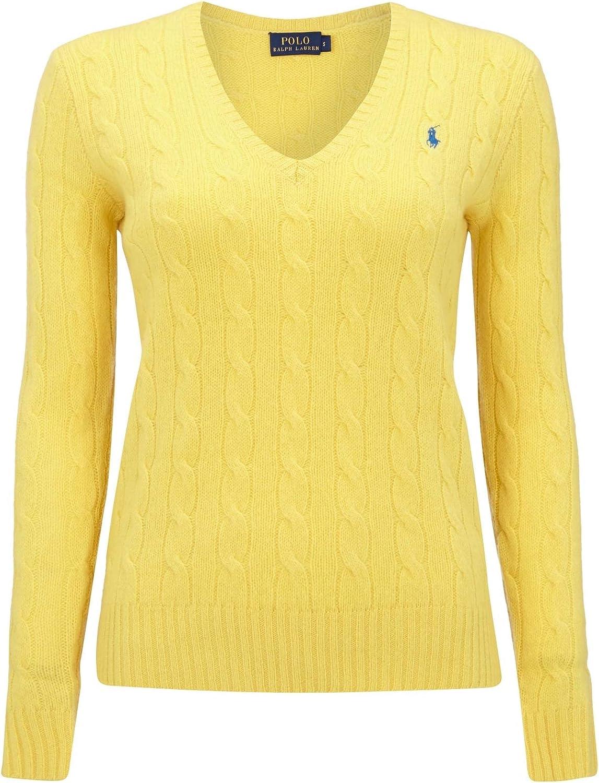 Ralph Lauren Polo Jersey de Punto con patrón Trenzado. Amarillo XL ...