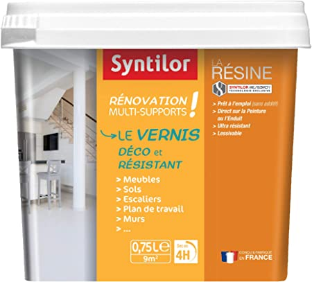 Syntilor Vernis Renovation Multi Supports Incolore Mat 0 75l