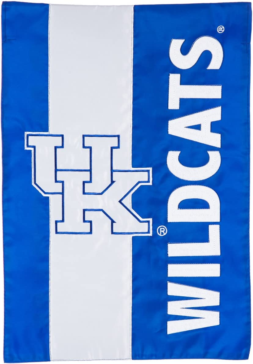 Team Sports America U of Kentucky Embellished Garden Flag - 13 x 18 Inches