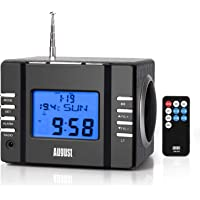 Clock Radio with MP3 Alarm - August MB300 - Wake to Your Favourite Music from USB and SD or FM Station - Rechargeable…