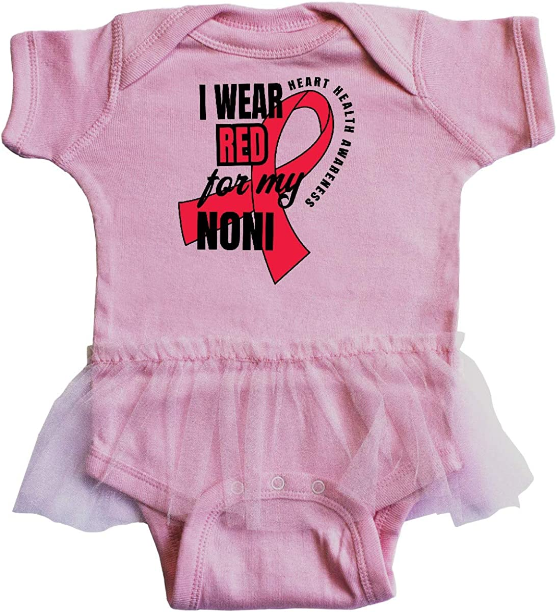 inktastic Heart HeaIth Awareness I Wear Red for My Noni Infant Tutu Bodysuit