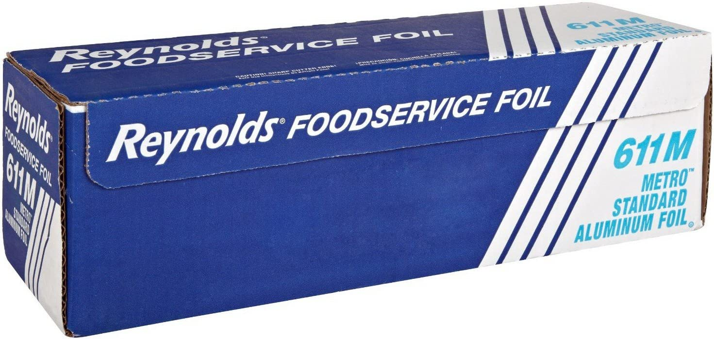 "Reynolds 611M 1000' Length x 12"" Width, Metro Aluminum Foil Roll"